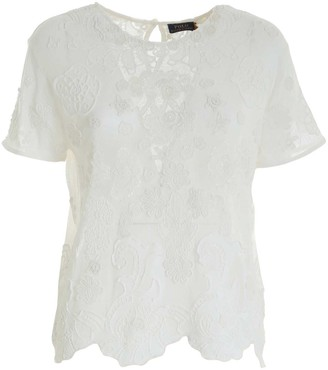 Polo Ralph Lauren Lace Scallop-Hem T-Shirt