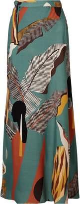 Adriana Degreas Bahiana Printed Voile Skirt
