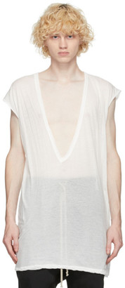 Rick Owens White Dylan Sleeveless T-Shirt