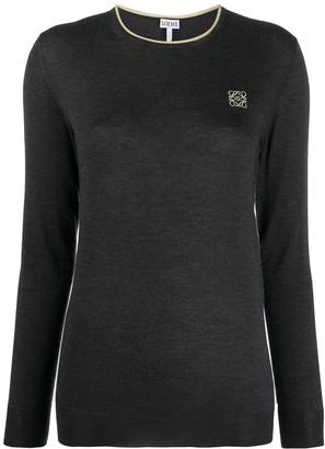 Loewe Anagram embroidered jumper
