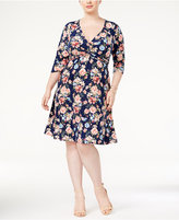 Love Squared Trendy Plus Size Twist-Front Dress