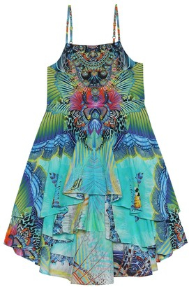 Camilla Kids Printed cotton and silk dress