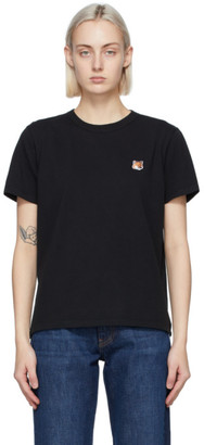 MAISON KITSUNÉ Black Fox Head T-Shirt