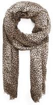 MANGO Leopard Scarf