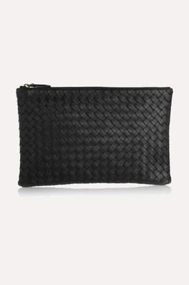 Bottega Veneta Intrecciato Leather Pouch - Black