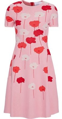 Carolina Herrera Flared Floral-jacquard Dress