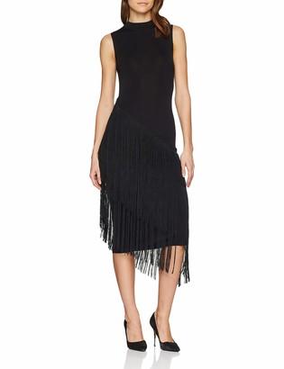 Warehouse Women's Asymmetric Fringe Detail Party Dress