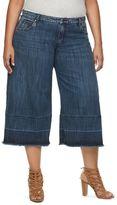 JLO by Jennifer Lopez Plus Size Wide-Leg Capri Jeans
