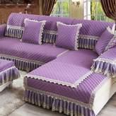 KCHEDBUOQIGE European Style abrics Soa Cushions Solid Color Classic Sand-proo Hair Modern Simple Anti-skid Soa Towel