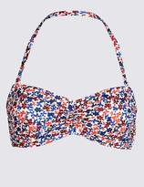 Marks and Spencer Ditsy Floral Print Bandeau Bikini Top