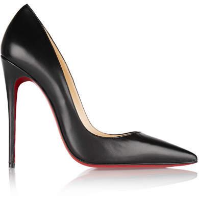 Christian Louboutin So Kate 120 Leather Pumps - Black