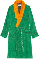 Gucci Embroidered velvet dressing gown