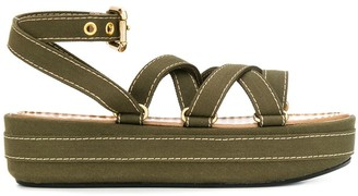 Marni strappy wedge sandals