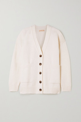 &Daughter + Net Sustain Tara Wool And Cashmere-blend Cardigan - Ecru