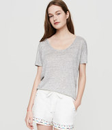 LOFT Lou & Grey Folktale Brushed Linen Shorts