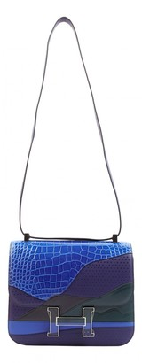 Hermes Constance Blue Exotic leathers Handbags