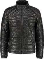 Strellson Leather jacket black