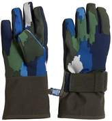 Stella McCartney Camo Printed Nylon Ski Gloves