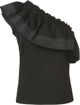 Exclusive for Intermix Aaliah Off Shoulder Top Black P