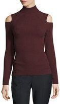 Theory Jemliss Ribbed Cold-Shoulder Sweater