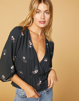 West Of Melrose All Wrapped Up Kimono Sleeve Top