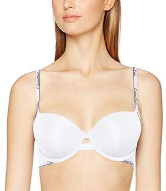 Calvin Klein Women's Demi Push Up Bra, (White 100), (Size: 0D34)