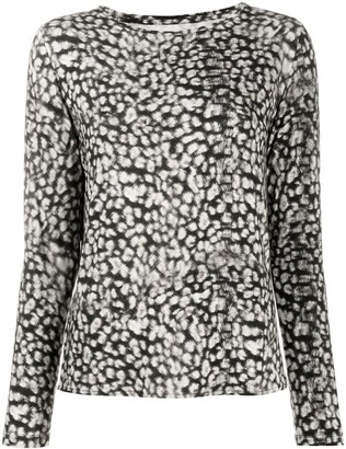 Majestic Filatures leopard-print long-sleeved T-shirt