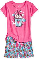 Max & Olivia 2-Pc. Soda Pajama Set, Big Girls (7-16)