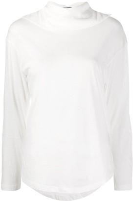 Ann Demeulemeester Roll-Neck Long Sleeved Top