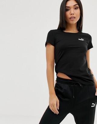 Puma Essentials black small logo t-shirt