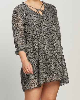 Atmos & Here Alisha Printed Smock Mini Dress