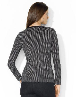Lauren Ralph Lauren Ruffled Dotted Cotton Top
