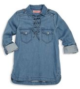 Blank NYC Girl's Lace-Up Denim Shirt