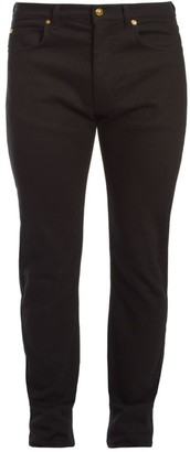 Versace Embroidered Stretch-Skinny Jeans