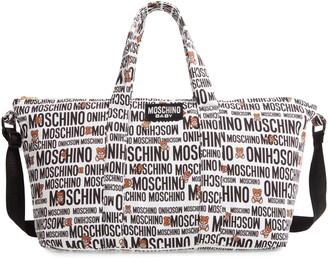 Moschino Allover Print Diaper Bag