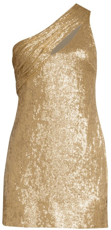 Rachel Zoe Magda One-Shoulder Metallic Mini Dress