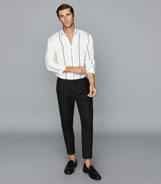 Reiss Frank - Regular Fit Striped Shirt in White