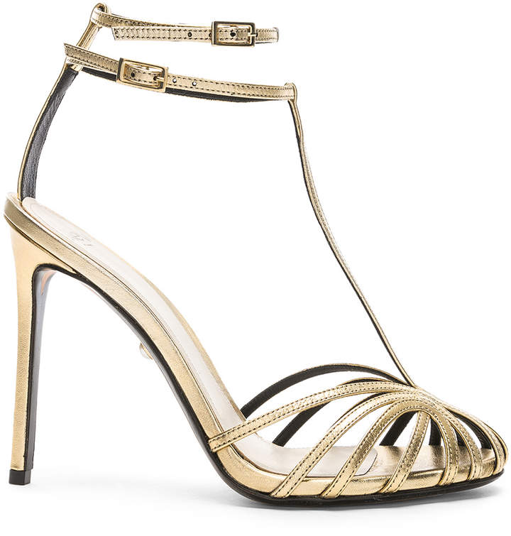 ALEVÌ Milano Stella Sandal in Shine Light Gold | FWRD
