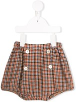 Siola check print shorts