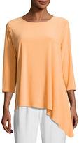 Caroline Rose 3/4-Sleeve Side Fall Top, Plus Size