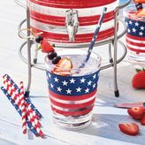 Sur La Table Stars and Stripes Assorted Paper Straws, Set of 25