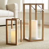 Crate & Barrel Crosby Teak Wood Lanterns