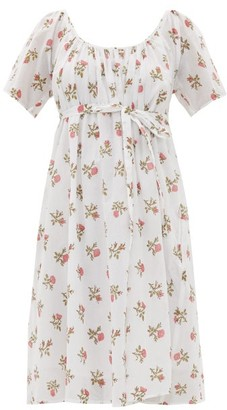 Thierry Colson Plum Floral-print Cotton-voile Dress - White Print
