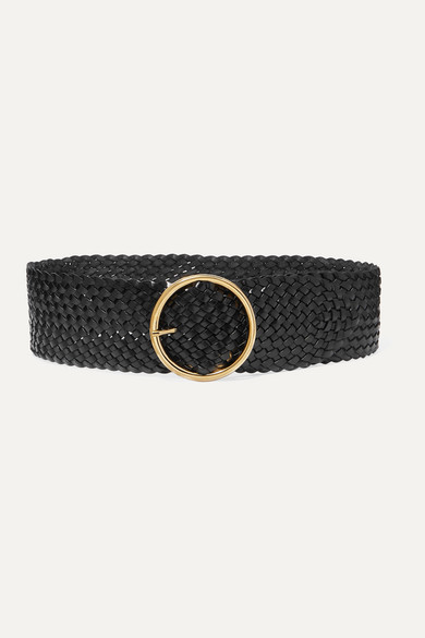 Thumbnail for your product : Andersons Woven Leather Belt - Black