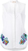 Ports 1961 floral patch shirt