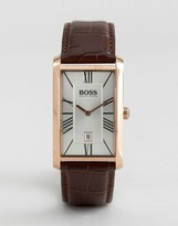 HUGO BOSS BOSS By Admiral Classic Leather Square Watch