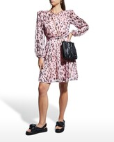 Thumbnail for your product : Milly Metallic Leopard Stripe Burnout Dress