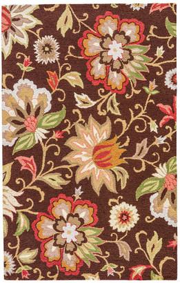 Jaipur Living Zamora Handmade Floral Brown/Multicolor Area Rug, 2'x3'