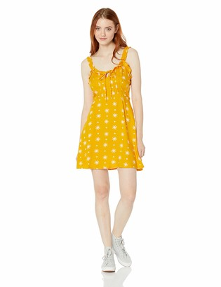 Volcom Junior's Women's I Like It Ruffle Cami Dress