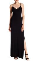 XOXO Lace Trim Maxi Dress